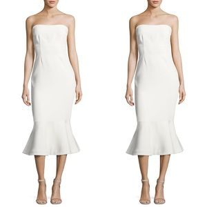 CINQ A SEPT Dress Luna Strapless Flute Ivory White